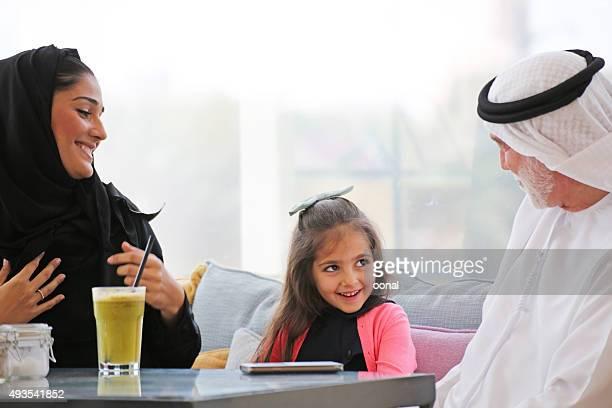 Arab family enjoying leisure time together