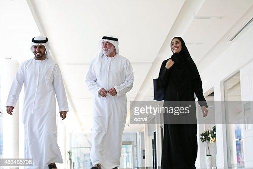 Arab family in shopping center