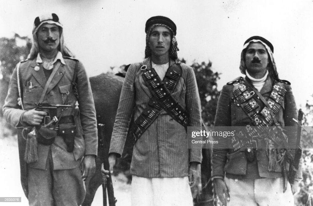 Arab guerrillas in the British mandate of Palestine during a period of unrest.
