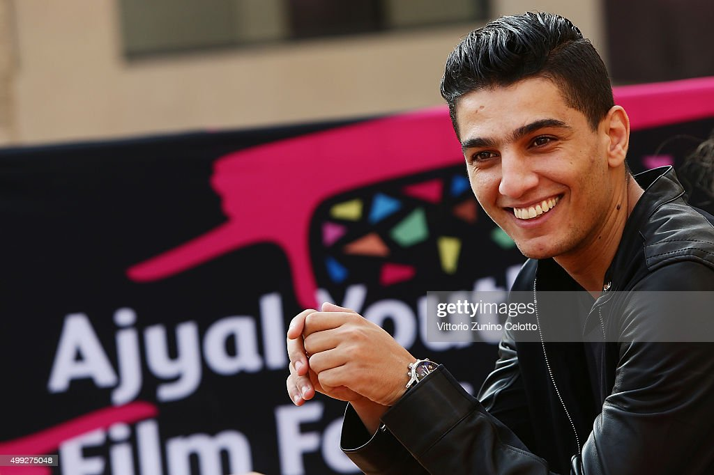 Arab Idol Winner (2012) <a gi-track='captionPersonalityLinkClicked' href=/galleries/search?phrase=Mohammed+Assaf&family=editorial&specificpeople=10886300 ng-click='$event.stopPropagation()'>Mohammed Assaf</a> conducts interviews for The Idol co financed by the Doha Film Institute on day 2 of the Ajyal Youth Film Festival 2015 on November 30, 2015 in Doha, Qatar.
