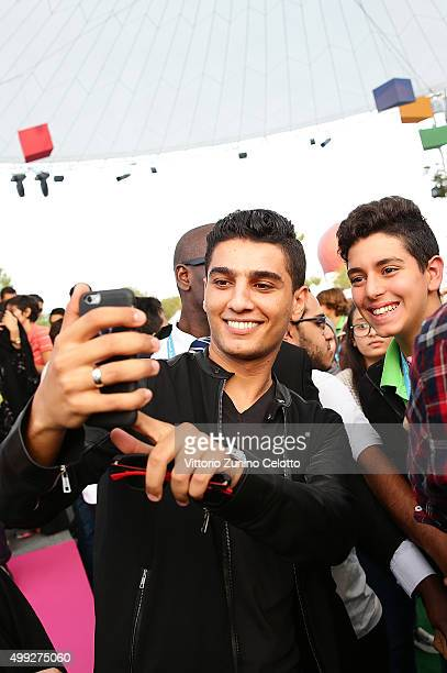 Arab Idol winner Mohammed Assaf meets festival jurors on day 2 of the third annual Ajyal Youth Film Festival presented by the Doha Film Institute on...