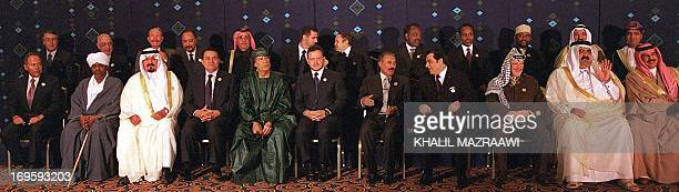 Arab leaders attending the Arab summit in Amman pose for a group picture 27 March 2001 Arab leaders are holding their first ordinary annual summit...