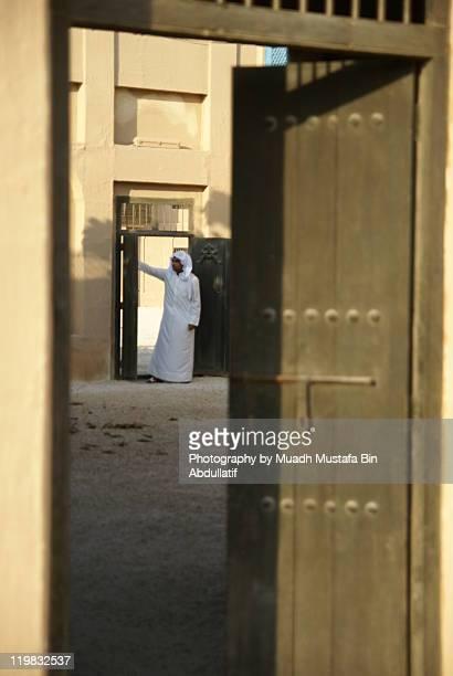 Arab man at home