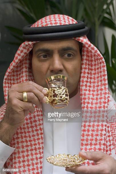 Arab Man Drinking Tea