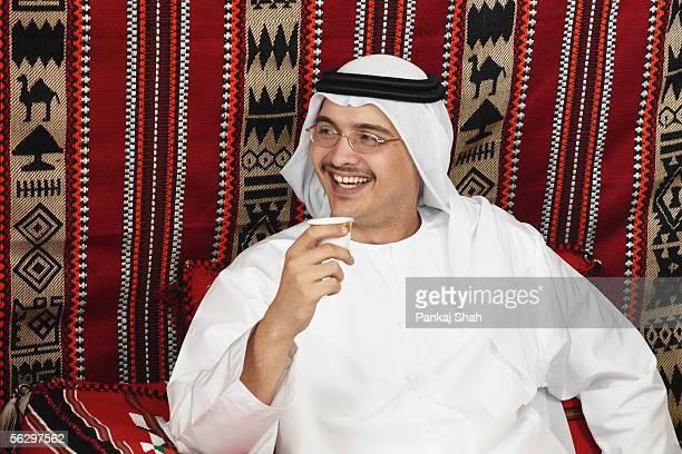 Arab man on candid shot