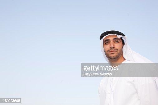 Arab man wearing dishdasha in Dubai