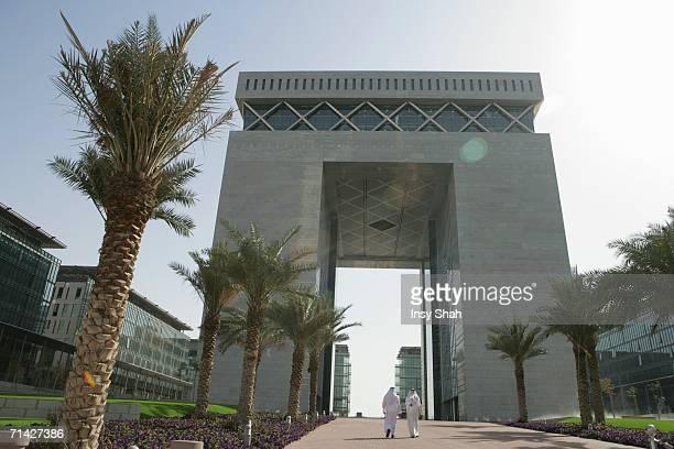 Arab Men walks outside the building