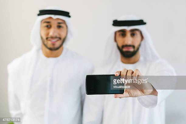 Arab Men with Smartphone