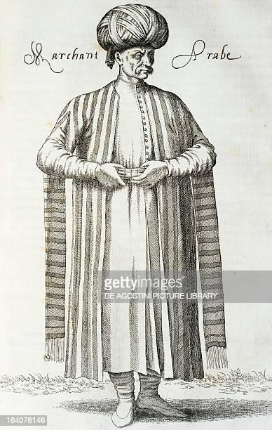 Arab merchant engraving from Les quatres premiers livres des Navigations et peregrinations orientales by Nicolas de Nicolay f 92 1568 Middle East...