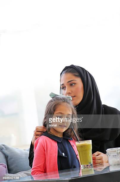 Arab mother and daughter