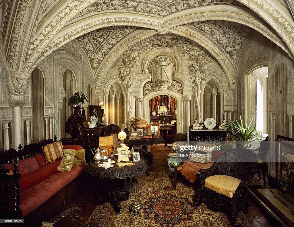 Sala De Estar Sintra ~  Palacio Nacional da Pena, Sintra , Portugal Pictures  Getty Images