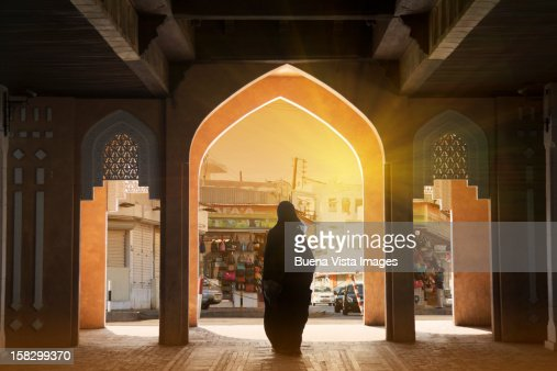 Arab woman in a Souk
