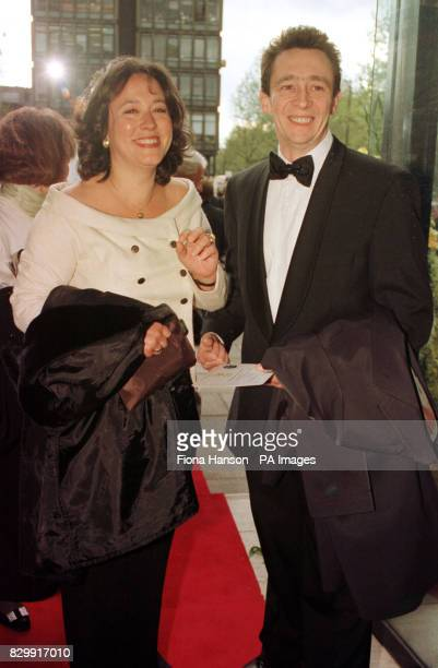 Arabella Weir and Paul Whitehouse of the BBC comedy show The Fast Show arrive at the Royal Albert Hall for the BAFTA awards