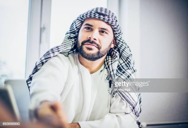 Arabian businessman handshaking