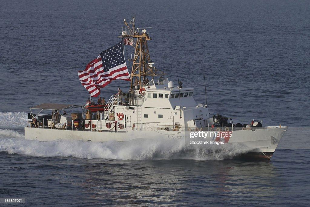 Arabian Gulf, March 14, 2012 - The U.S. Coast Guard Cutter Adak (WPB 1333) transits at maximum speed.