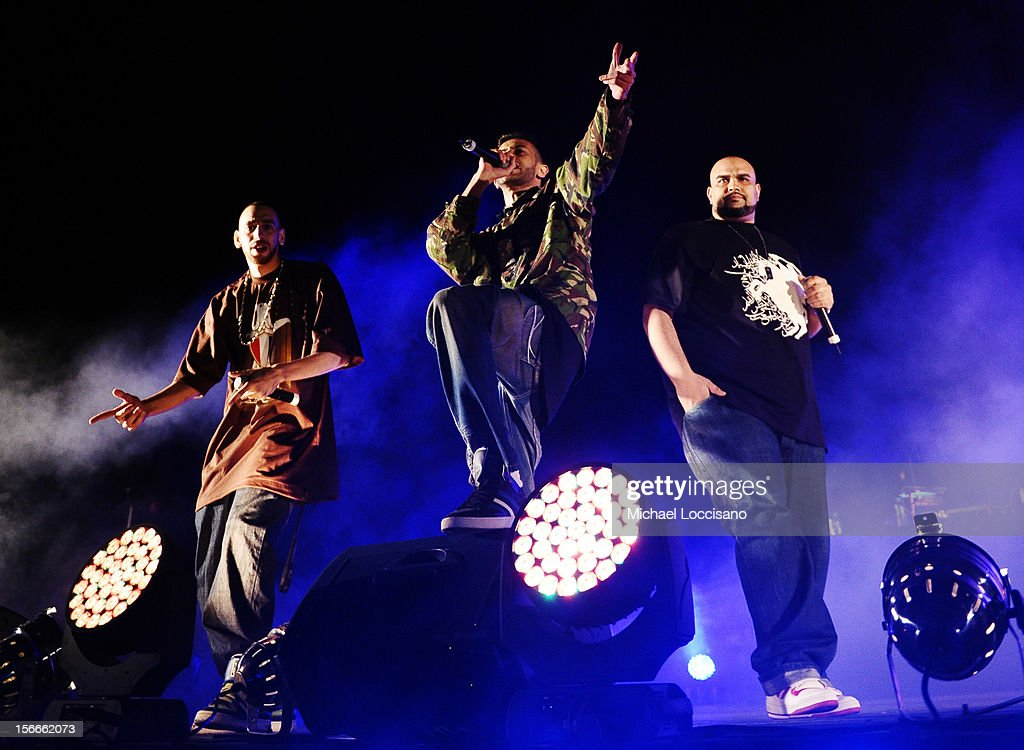 Arabian Knightz perform at Arab Hip Hop Concert during the 2012 Doha Tribeca Film Festival at Katara Sony Open Air Cinema on November 18, 2012 in Doha, Qatar.
