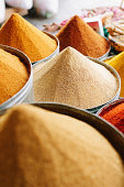 Arabian Spices at Street Market Marrakesh Medina Morocco North A
