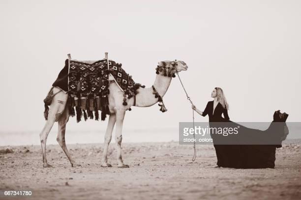 Arabische vrouw met camel