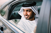 Arabic businessman in car