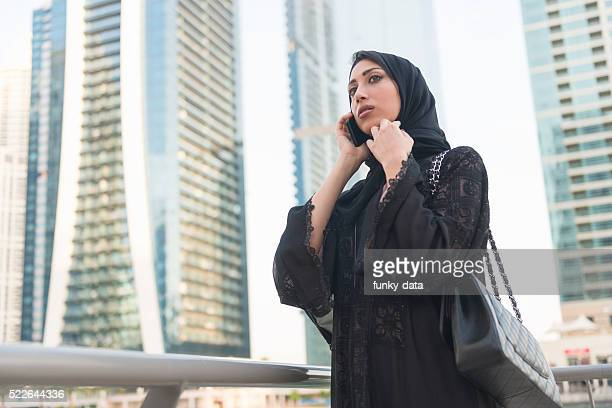 Arabic businesswoman on the phone