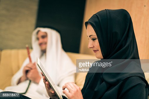 アラビアのカップルホーム