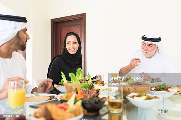 Arabic family Enjoying lunch
