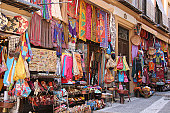 A shop selling arabic clothes and other things