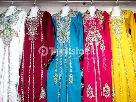 0d78542847 Arabic Ladies Dresses Shop Stock Photo - Thinkstock