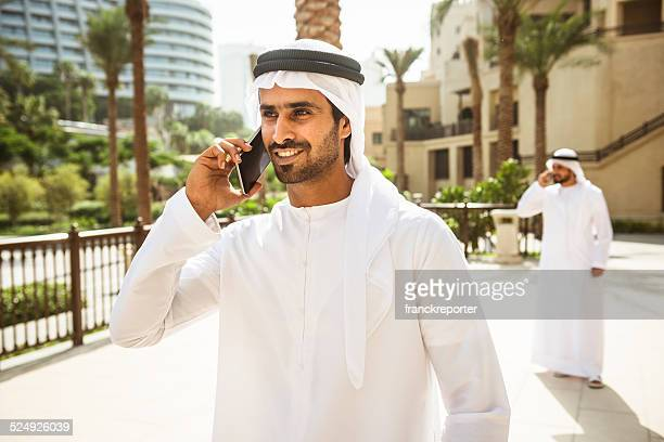 arabic sheik portrait on the phone