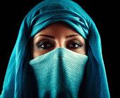 Young Arabic woman. Stylish portrait