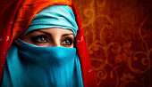 Young Arabic woman. Stylish portrait