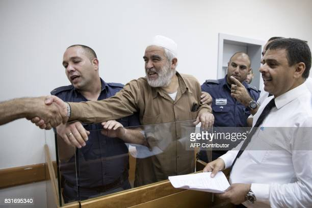 ArabIsraeli Sheikh Raed Salah leader of the radical northern branch of the Islamic Movement in Israel arrives at the Israeli Rishon Lezion Justice...