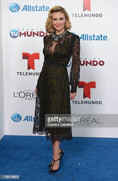 Aracely Arambula arrives for Telemundo's Premios Tu Mundo Awards at American Airlines Arena on August 15 2013 in Miami Florida