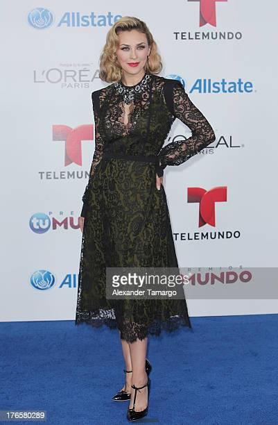 Aracely Arambula attends Telemundo's Premios Tu Mundo Awards at American Airlines Arena on August 15 2013 in Miami Florida