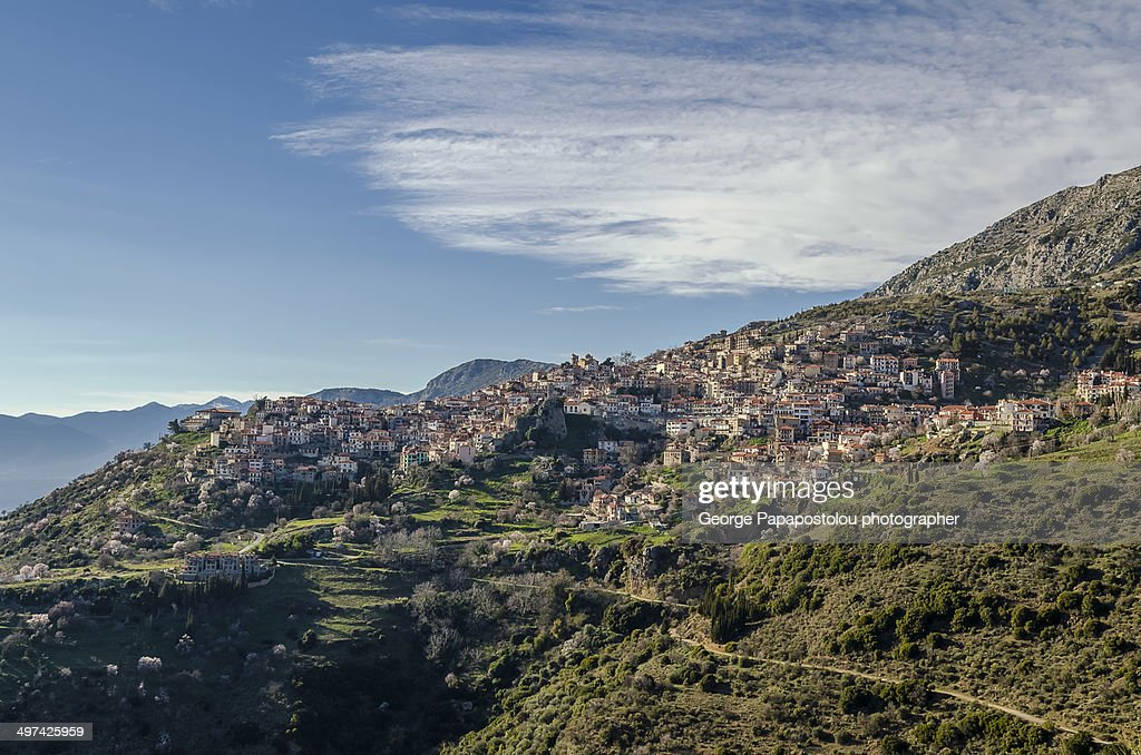 Arachova Village Stock Photo  Getty Images