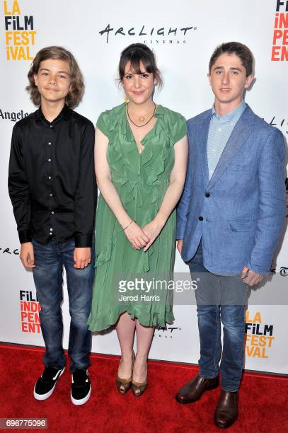 Aram Darbo Melanie Lynskey and Sawyer Barth attend premiere of 'And Then I Go' during 2017 Los Angeles Film Festival at Arclight Cinemas Culver City...