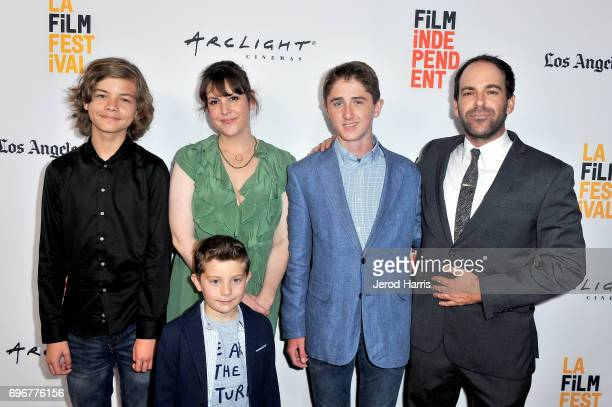 Aram Darbo Melanie Lynskey Kannon Hicks Sawyer Barth and Vincent Grashaw attend premiere of 'And Then I Go' during 2017 Los Angeles Film Festival at...