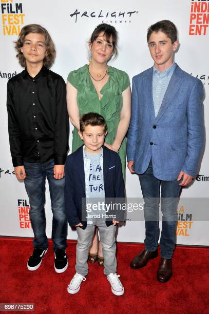 Aram Darbo Melanie Lynskey Sawyer Barth and Kannon Hicks attend premiere of 'And Then I Go' during 2017 Los Angeles Film Festival at Arclight Cinemas...