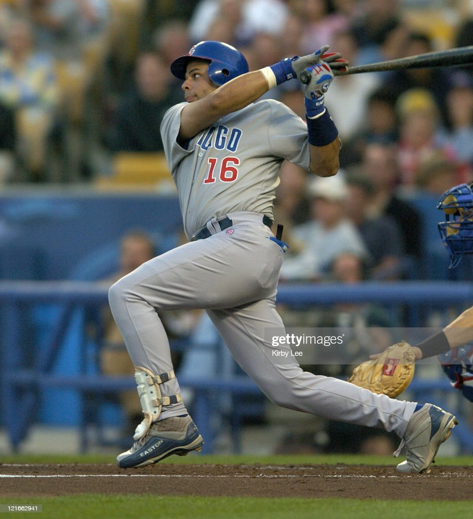Aramis Ramirez of the Chicago Cubs during 73 loss to the Los Angeles Dodgers at Dodger Stadium on Tuesday May 11 2004