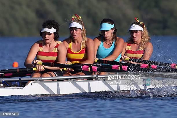 AramohoWanganui Rowing Club winners of the women's club coxless quad final during the Bankstream New Zealand Rowing Championships at Lake Karapiro on...