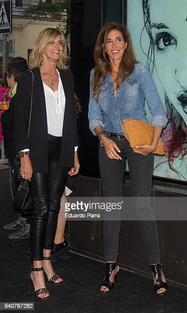 Arancha de Benido and Elsa Anka attend the 'Smylife Collection Beauty Art' photocall at Smylife clinic on June 16 2016 in Madrid Spain