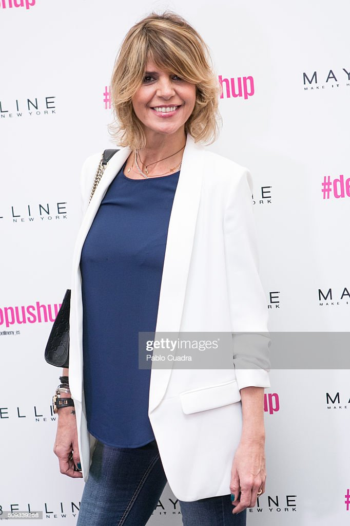 Arancha de Benito attends the Maybelline NY & Bloomers&Bikini Fashion Show during the MFShow on February 10, 2016 in Madrid, Spain.