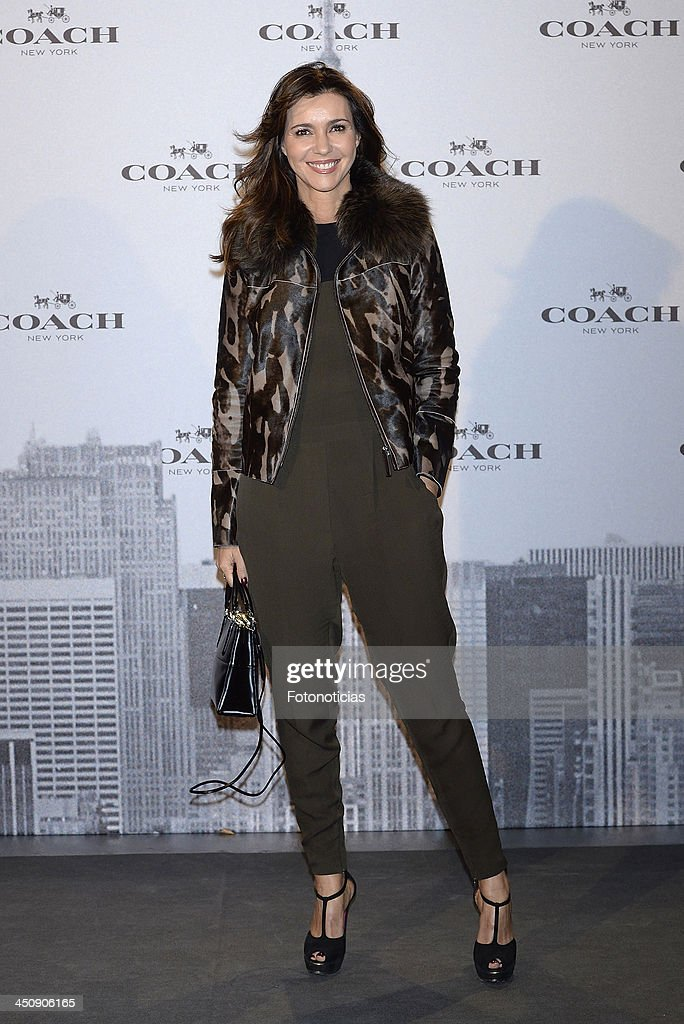 Arancha del Sol attends the opening of Coach boutique on November 20, 2013 in Madrid, Spain.