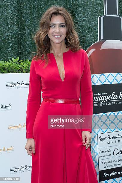 Arancha del Sol presents new cosmetic products Nuggela Martin in Madrid Spain on October 20 2016