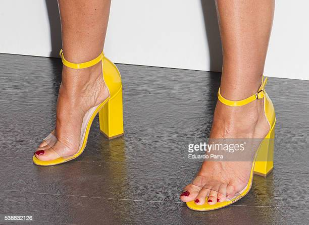 Arancha del Sol shoes detail attends the 'Lifestyle awards' photocall at Barcelo theatre on June 8 2016 in Madrid Spain