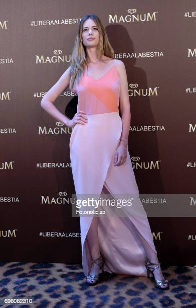 Arancha Marti attends the Magnum new campaign presentation party at the Palacete de Fortuny on June 14 2017 in Madrid Spain
