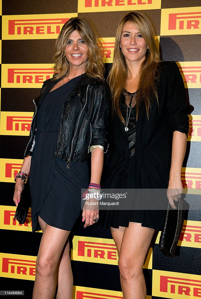 Arantxa de Benito and Raquel Merono attend the photocall for the 'Welcome to Formula 1' cocktail by Pirelli on May 19 2011 in Barcelona Spain