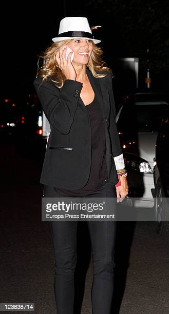 Arantxa de Benito attends Spanish Tv presenter Terelu Campos birthday on September 3 2011 in Madrid Spain