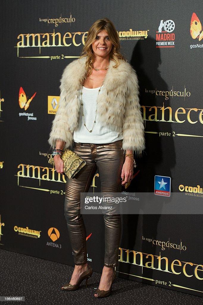 Arantxa de Benito attends the 'The Twilight Saga: Breaking Dawn - Part 2' (La Saga Crepusculo: Amanecer Parte 2) premiere at the Kinepolis cinema on November 15, 2012 in Madrid, Spain.