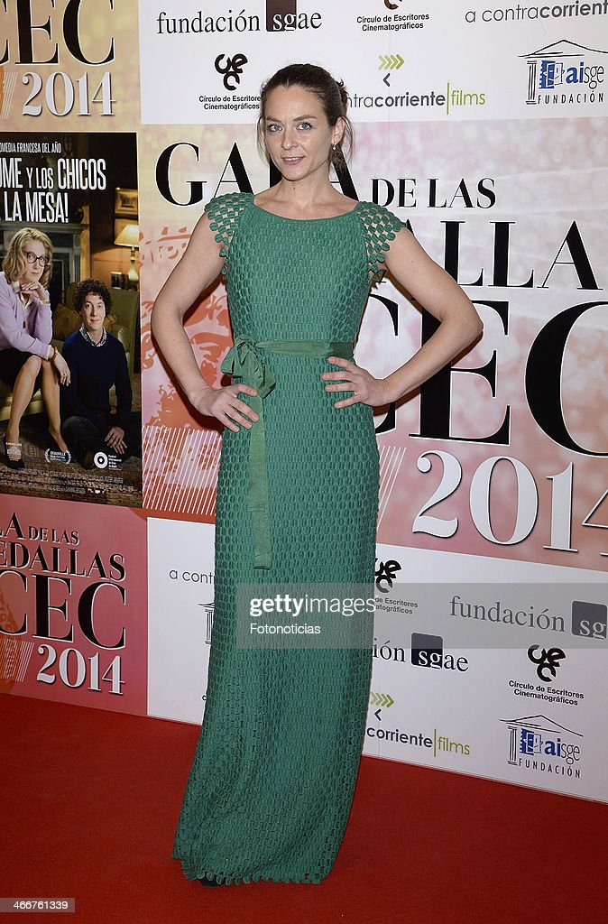 Arantxa Garastazul attends the 'CEC' medals 2014 ceremony at the Palafox cinema on February 3, 2014 in Madrid, Spain.